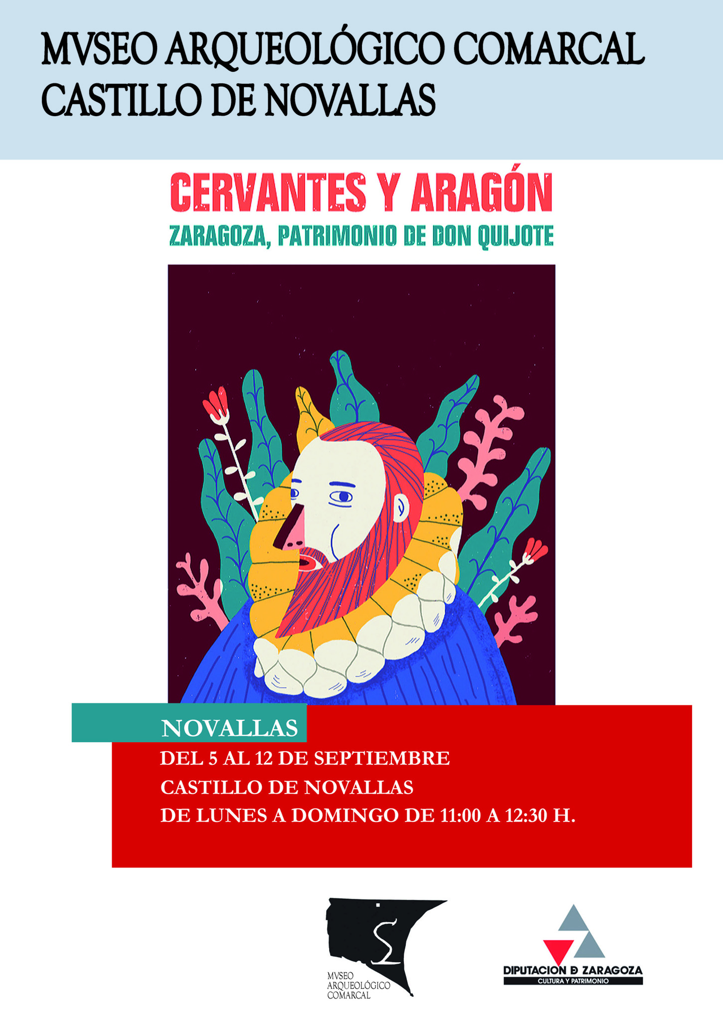 20160905 exposicion cervantesyaragon cartel
